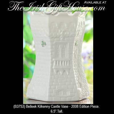 Irish Belleek China Kilkenny Castle Vase