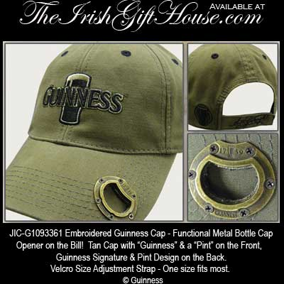 2d76ec7a8 Guinness Pint Bottle Opener Baseball Cap   Guinness Gifts
