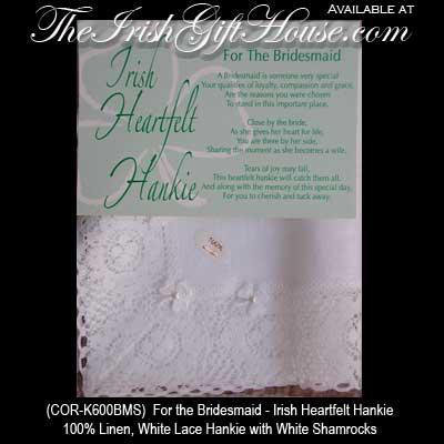 Wedding Gifts For Bride Ireland : Irish+Wedding+Hankie Father of the Bride Irish Wedding Hankie