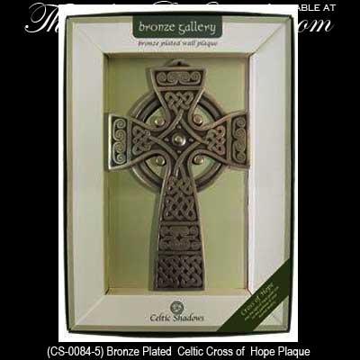 Bronze Celtic Cross of Hope Wall Plaque