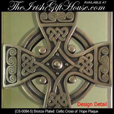 Unique Bronze Celtic Cross of Hope Wall Plaque | Irish Gifts IS43