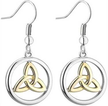 Celtic Earrings, Plated