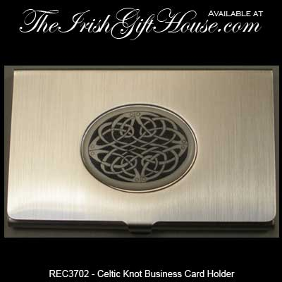 Celtic business card holder irish gifts reheart Gallery