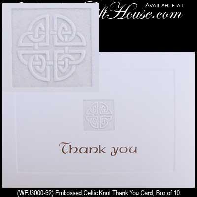 Funny Wedding Gifts Ireland : Pics PhotosCeltic Knot Thank You Card