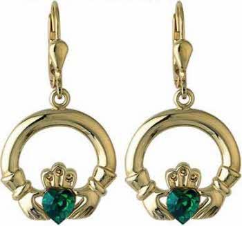 11e20e5b404da Claddagh Earrings - Plated
