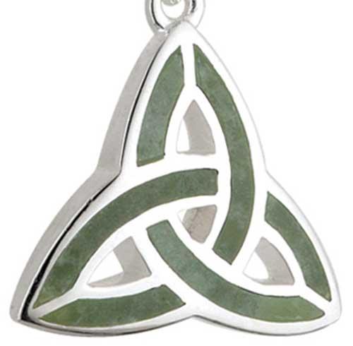 29a1e0e8e66b9 Connemara Marble Trinity Necklace - Sterling Silver