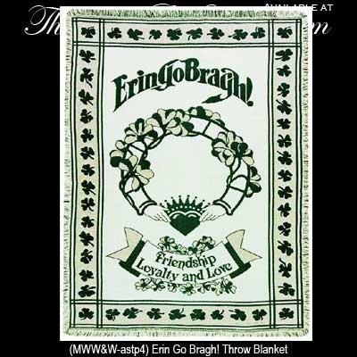 Claddagh irish throw blanket erin go bragh shamrocks irish gifts m4hsunfo