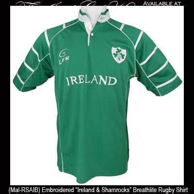 753e79980 Irish Gifts - Shamrock and Ireland Irish Rugby Shirt