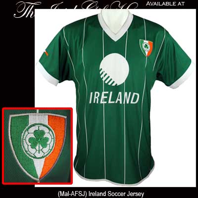 ac368d2c1 Irish Soccer Jersey with Shamrock Shield