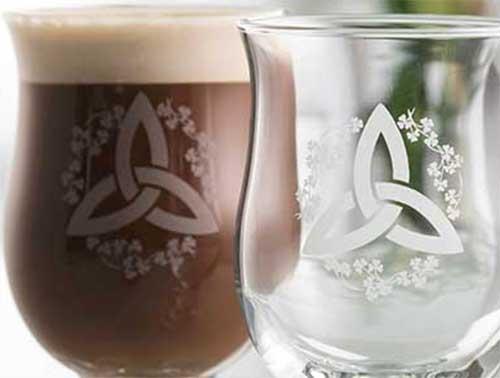 Irish Coffee Glasses Trinity Galway Crystal