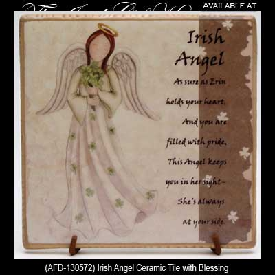 Irish Angel Ceramic Tile Irish Blessing Irish Gifts