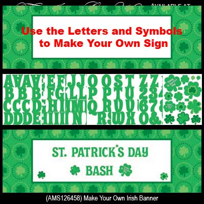make your own irish banner st patrick 39 s day decoration