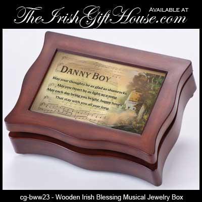 Irish Jewelry Box Musical Irish Blessing