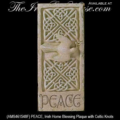 Irish Gifts Peace Irish Home Blessing Plaque With