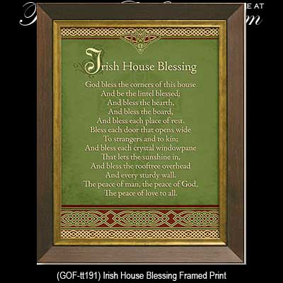 irish gifts irish house blessing framed plaque