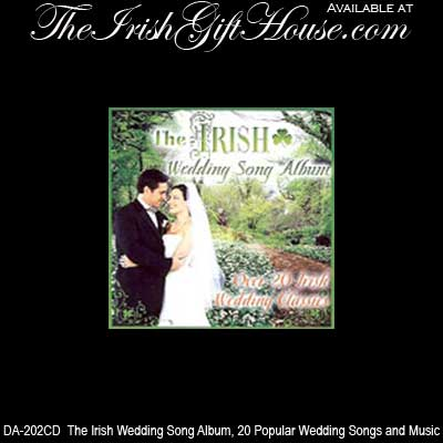 The Irish Wedding Song Album 20 Popular Wedding Songs And Music CD