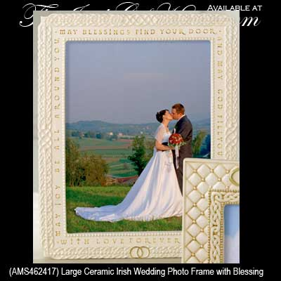 Irish Picture Frame Wedding Blessing Celtic Knots