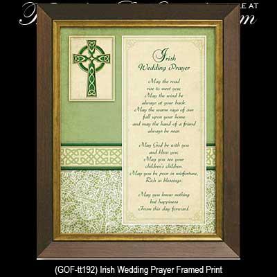 Wedding Gifts For Bride Ireland : Irish Wedding Prayer Framed Plaque
