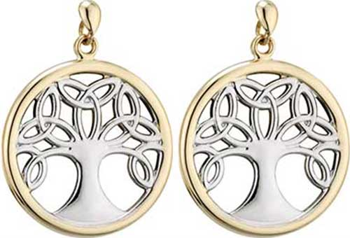 Tree Of Life Earrings Gold 33832