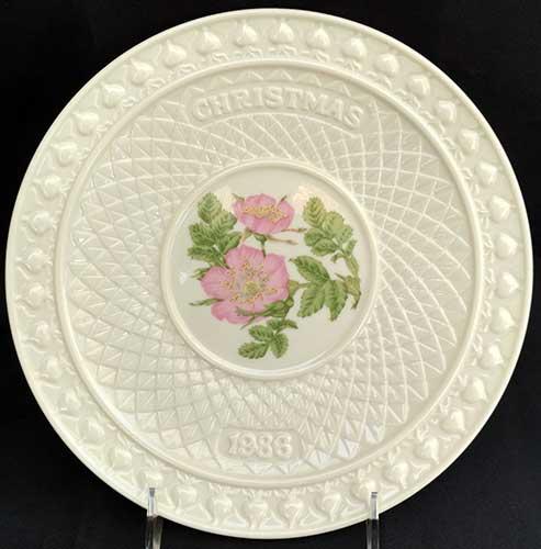 belleek christmas plate 1986 - Christmas Plates