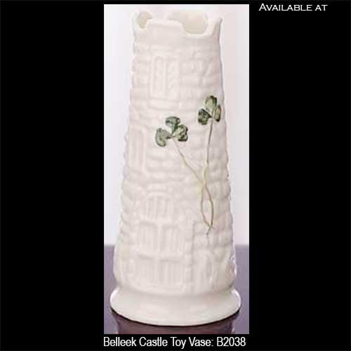 Belleek Castle Vase Toy Size