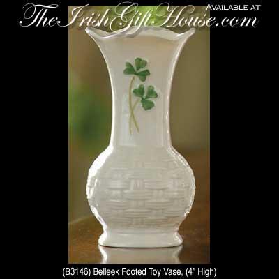 Belleek Footed Vase Small
