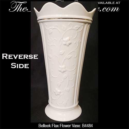 Belleek Vase Shamrocks And Irish Flax Flower