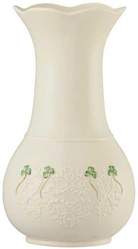 Beautiful Belleek Shamrock Vase