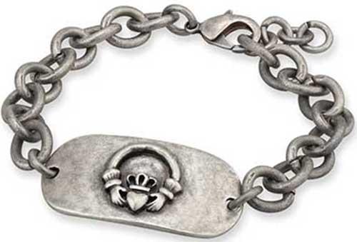 Mens Celtic Bracelet Claddagh Bracelet Men Dragons Blood Jewelry Mens Claddagh Bracelet
