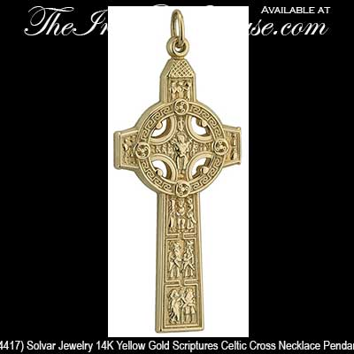 Mens gold cross of scriptures clonmacnoise celtic cross necklace for men 4417 aloadofball Choice Image