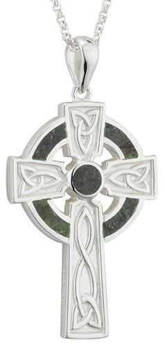 Trinity Celtic Cross Necklace,Celtic Cross Necklace,Leather Necklace for Men,Celtic Cross Pendant,Spiritual Gift,Rugged Cross,Rustic Celtic