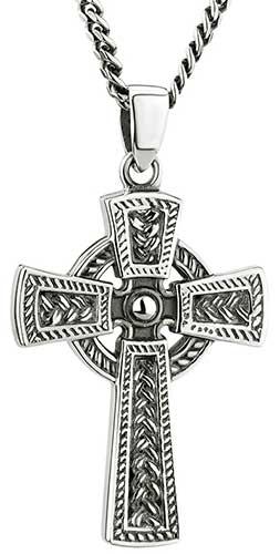cf7991cb54d994 celtic-cross-necklace-men-46456. Celtic Cross Necklace - Gents - Sterling  Silver