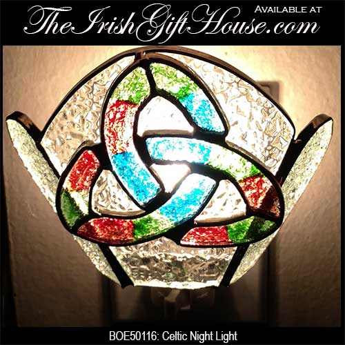 Stained Glass Celtic Night Light: The Irish Gift House