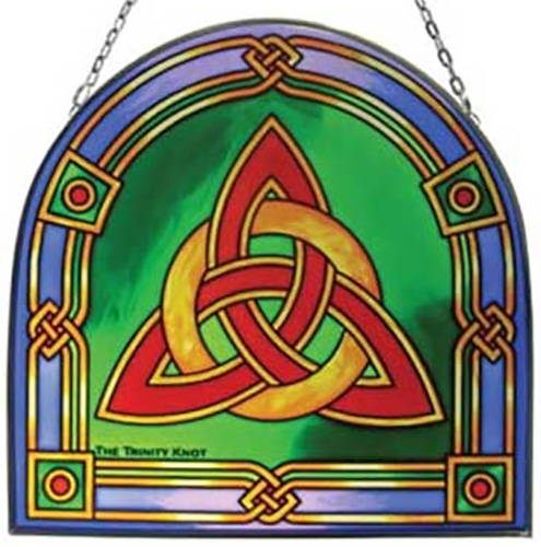 Stained glass celtic knot