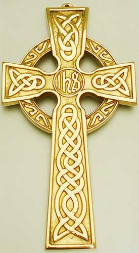 Brass Celtic Cross Wall