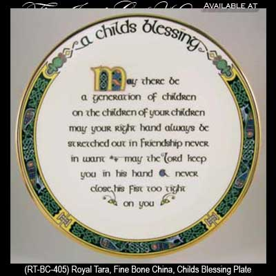 Old Irish Blessing Plate 8 Royal Tara Home Accessories