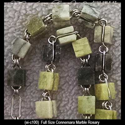 Connemara Marble Rosary Square Beads The Irish Gift House