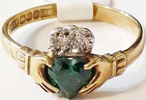 Emerald Claddagh Rings