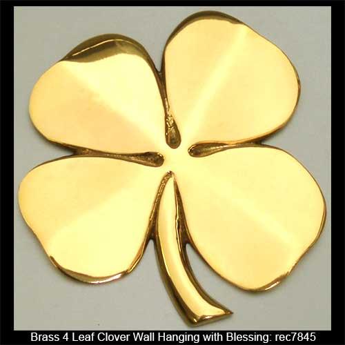Brass Four Leaf Clover