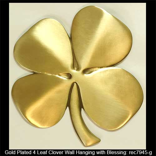 Four Leaf Clover Wall Hanging Gold