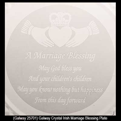 Irish Wedding Blessing Plate Galway Crystal