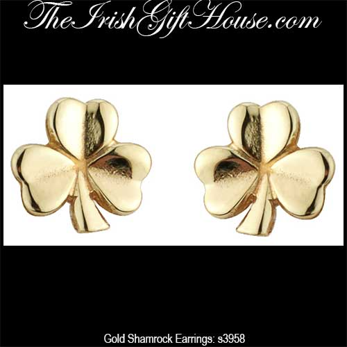 be6e38818 gold-shamrock-earrings-3958. Tiny Shamrock Stud ...