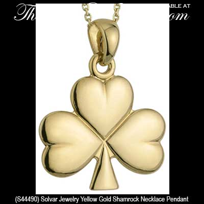 Gold shamrock necklace gold shamrock necklaces 44490 gold shamrock necklace aloadofball Images