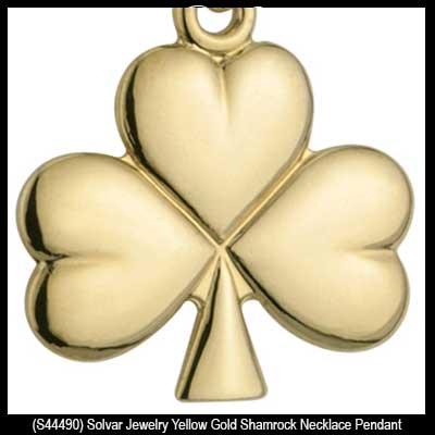 Gold shamrock necklace aloadofball Images