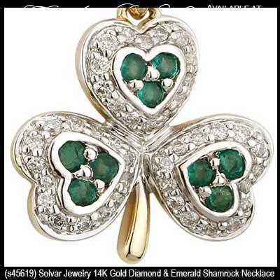 Gold shamrock necklaces 73900 aloadofball Images
