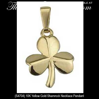 Small gold shamrock necklace gold shamrock necklaces 4704 small gold shamrock necklace aloadofball Images