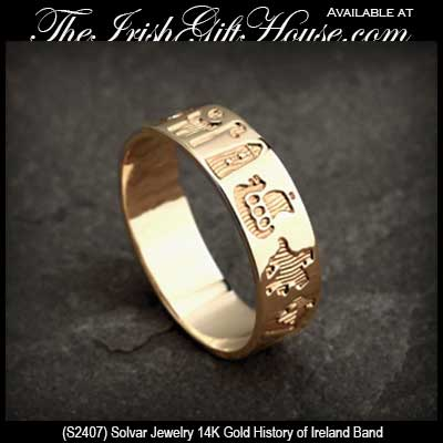 History of Ireland Ring in Gold