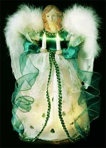 Irish Angel Tree Topper Light Up