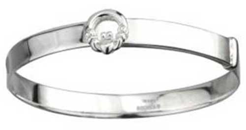 Sterling Silver Claddagh Childs Bracelet