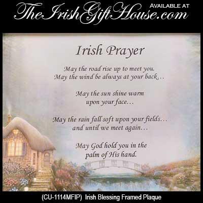 Irish Blessing Plaque: Framed Print